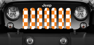 Tennessee Orange Checkerboard Grille Insert