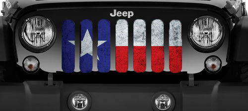 Rustic Texan State Flag Grille Insert