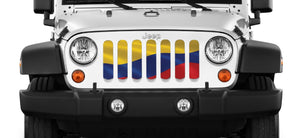Waving Columbian Flag Grille Insert