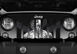 DOUBLE SIDED Wolverine - CUSTOM Jeep Grille Insert