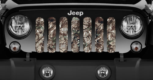 Woodland Camo Jeep Grille Insert