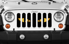 Chaos Yellow Eyes Jeep Grille Insert