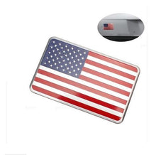 American Flag Metal Jeep Decal