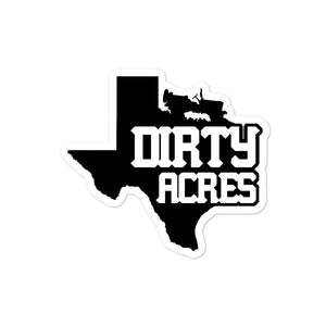 Dirty Acres Decal - Black