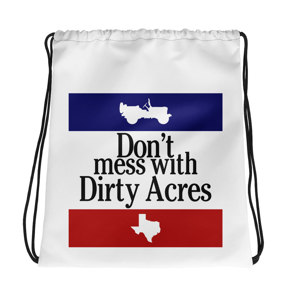 Dirty Acres Jeep Drawstring bag