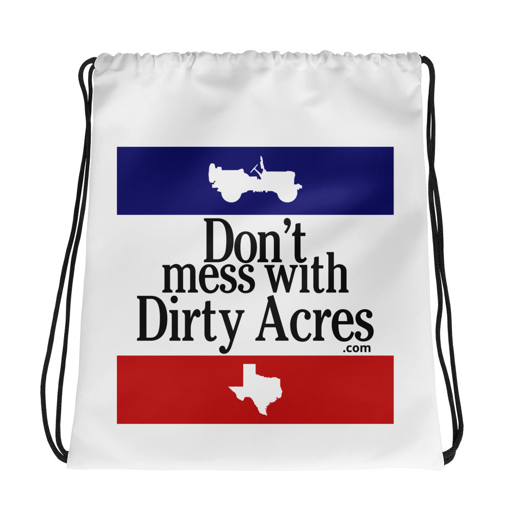 Dirty Acres Drawstring Bag