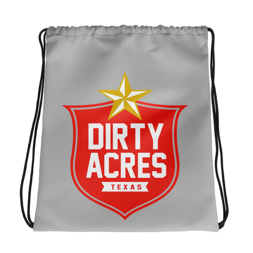 Dirty Acres Gold Star Drawstring bag