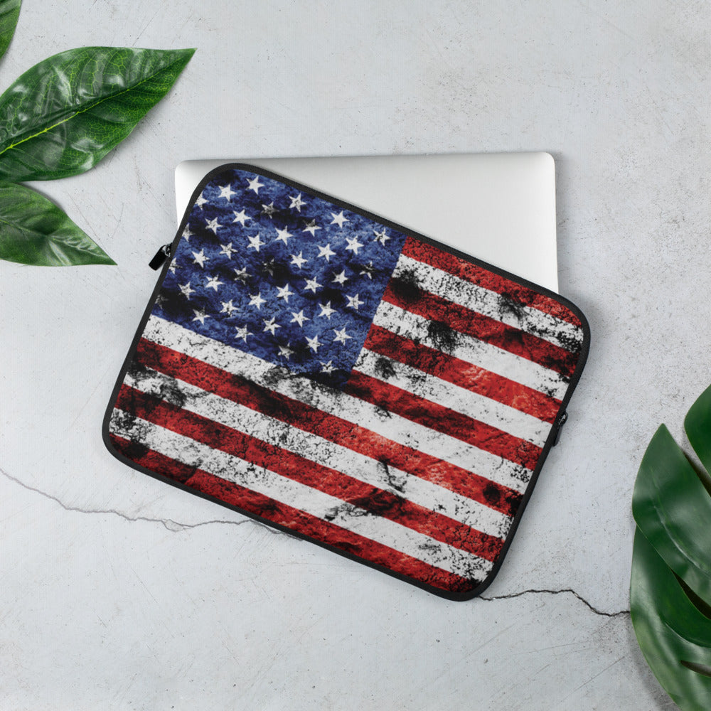 Laptop Sleeve - Dirty Grace American Flag