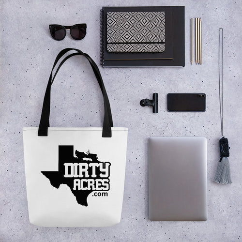 Dirty Acres Texas Logo Beach Bag