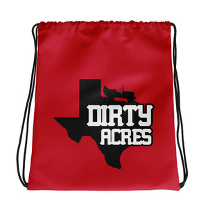 Dirty Acres Texas Jeep Drawstring bag