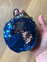 Circle Sequin Plush Key Chain