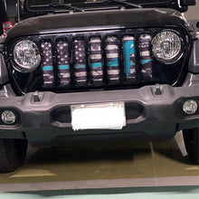 Teal Ribbon Tactical American Flag Jeep Grille Insert