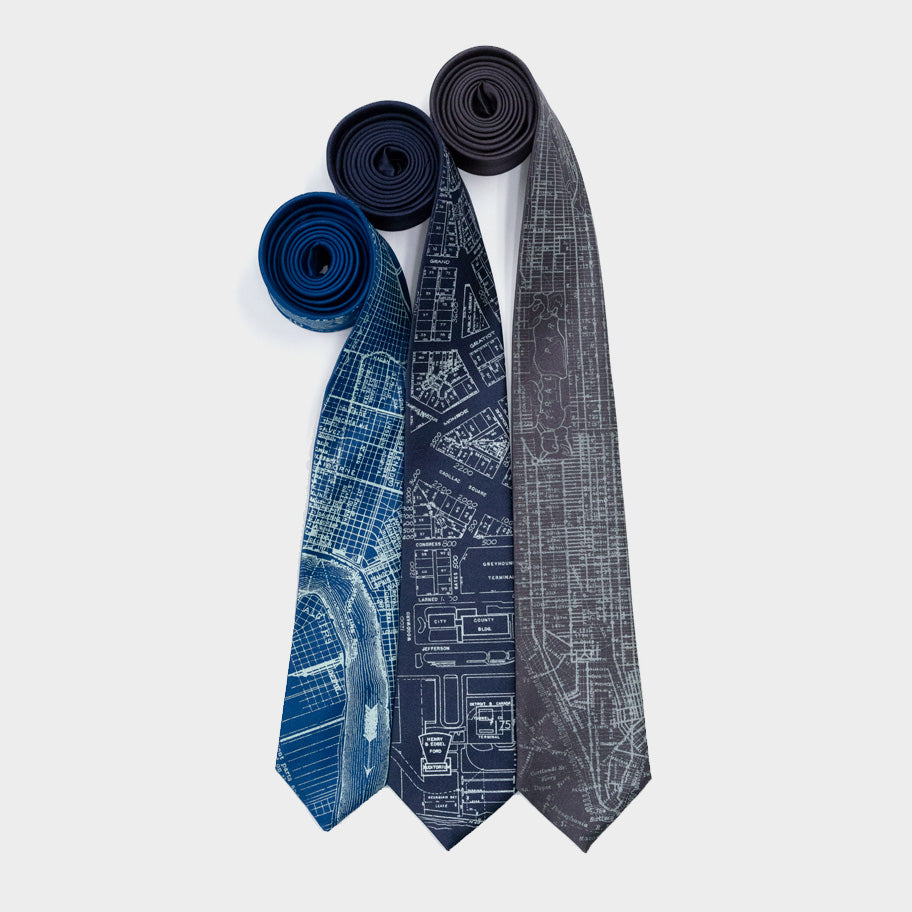Vintage City Map Neckties
