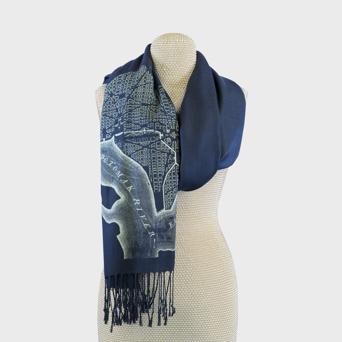 Vintage City Map Scarves
