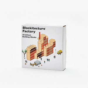 Blockitecture Factory Building Blocks Set Product Box Cover