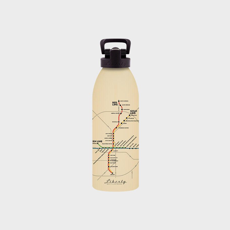 Transit Map Bottle - Atlanta