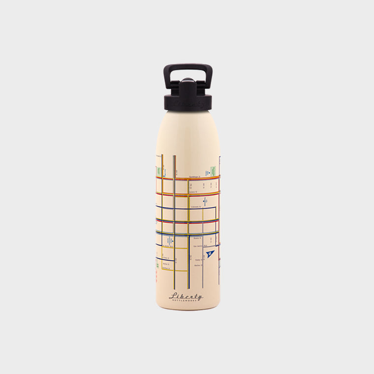 Transit Map Bottle - Austin