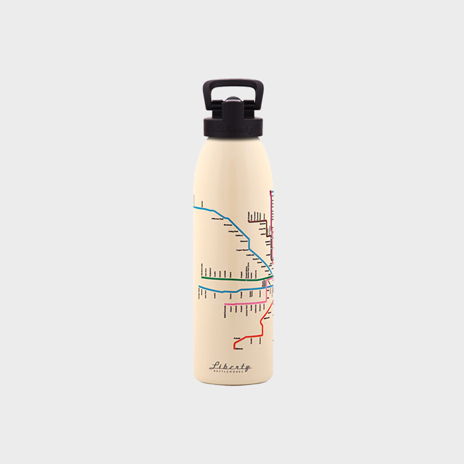 Transit Map Bottle - Chicago