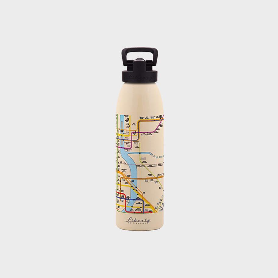 Transit Map Bottle New York City