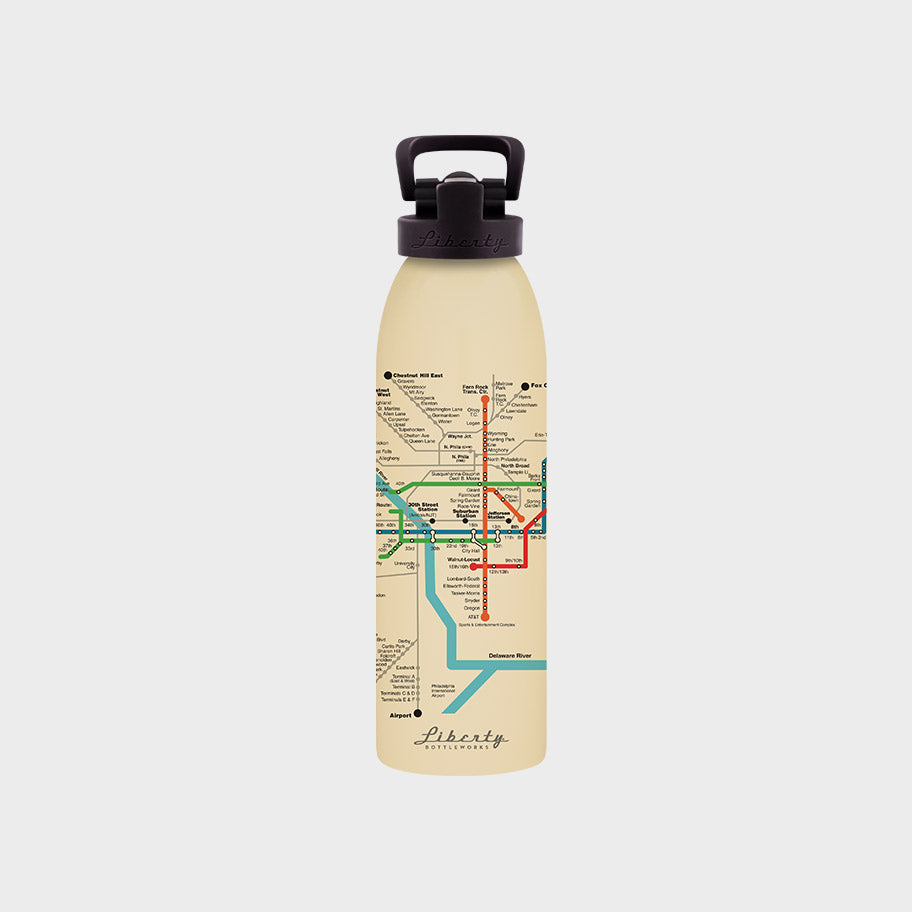 Transit Map Bottle Philadelphia