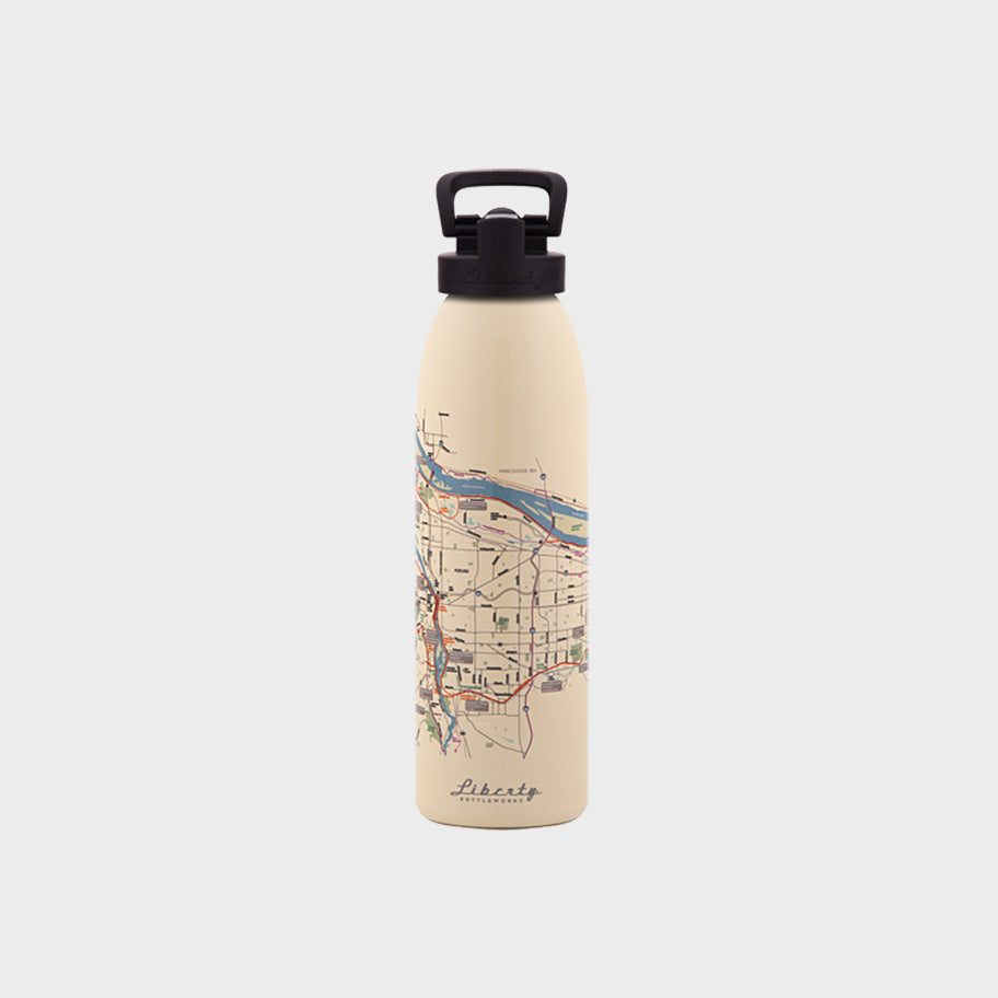 Transit Map Bottle - Portland
