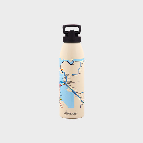 Transit Map Bottle - San Francisco