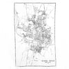 Austin Texas City Map Pashmina Scarf White