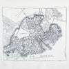 City Map Print Scarf - Boston