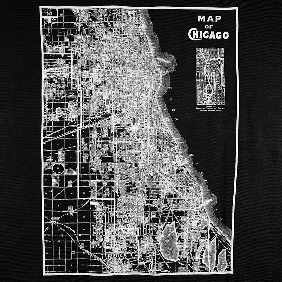 City Map Print Scarf Chicago Chicago City