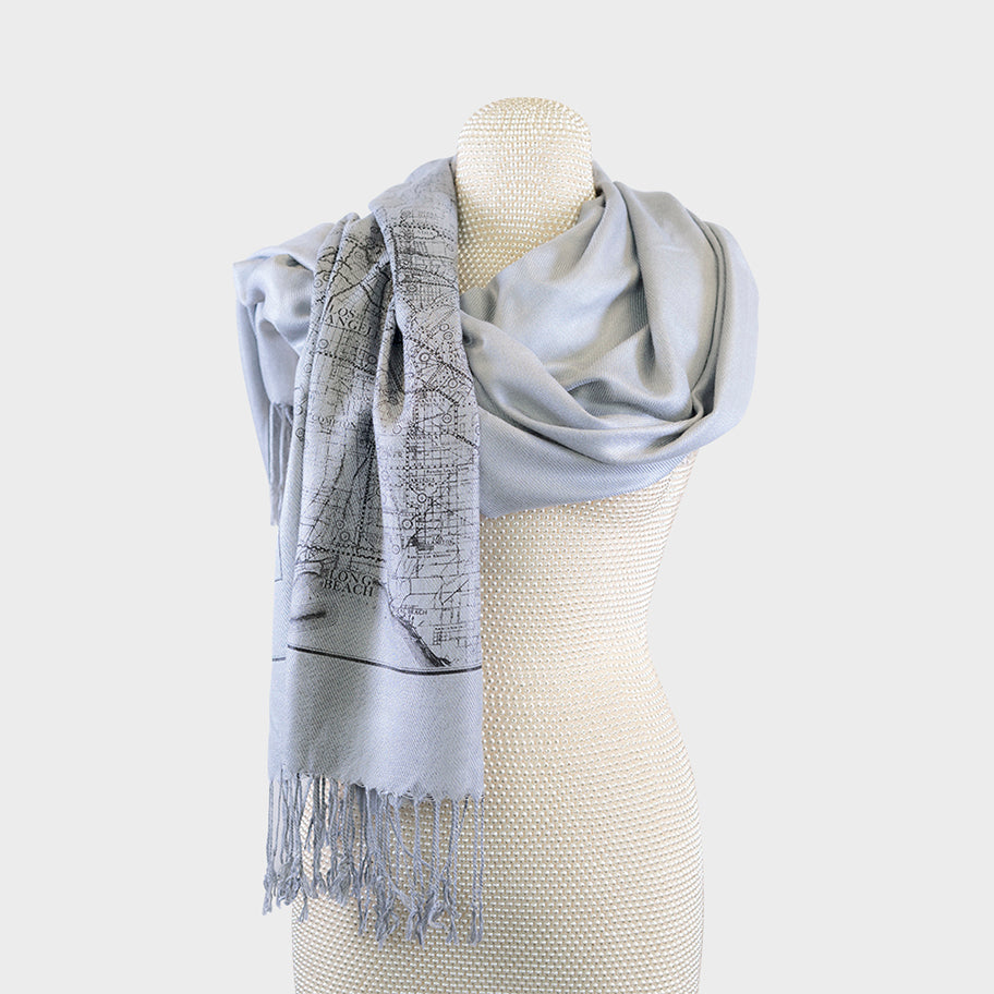 City Map Print Scarf - Los Angeles