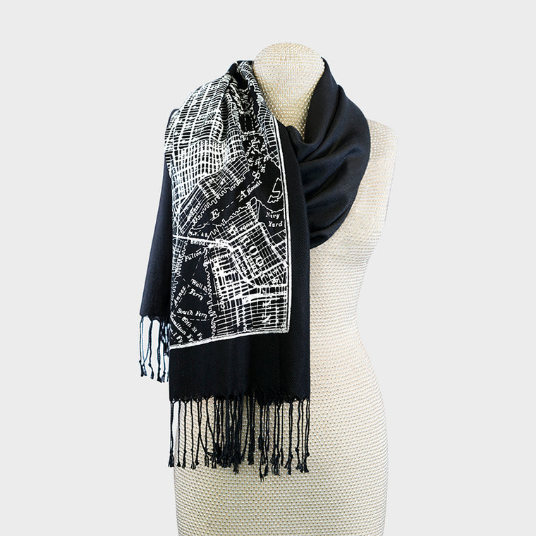 City Map Print Scarf - New York City