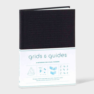 Grids and Guides Notebook Black Cover