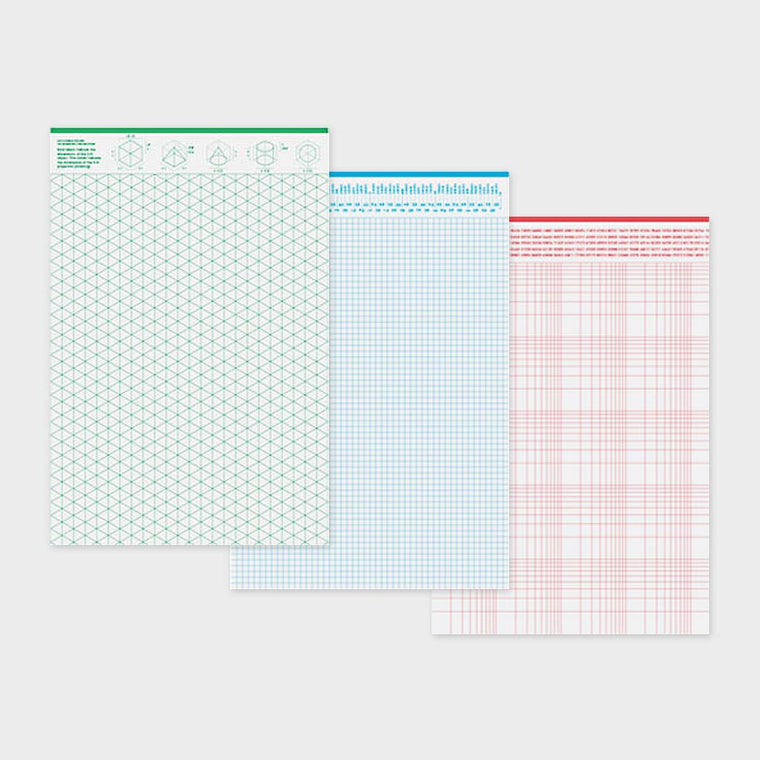 Grids and Guides - 3 Notepad Set