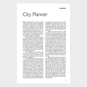 Insider's Guide to Careers in Urban Planning Page