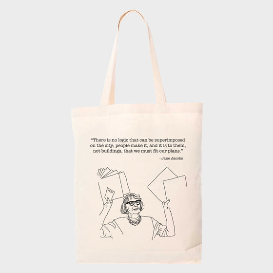 Jane Jacobs Tote Front with Quote