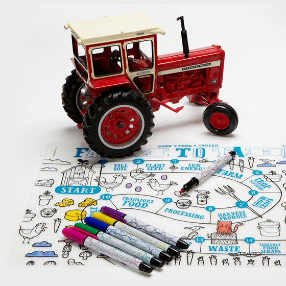 Mark-mat Farm to Table Mat, Pens, and Tractor Toy
