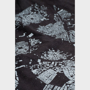 Boston City Map T Shirt Detail