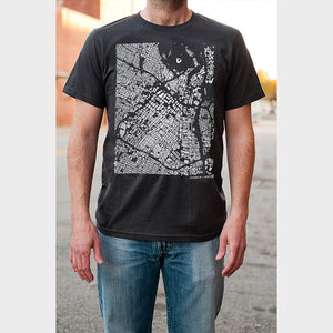 Unisex Los Angeles City Map T Shirt on Model