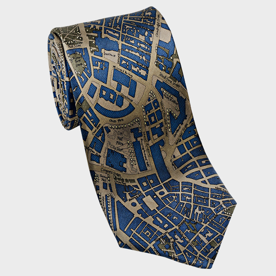 City Necktie Boston Blue