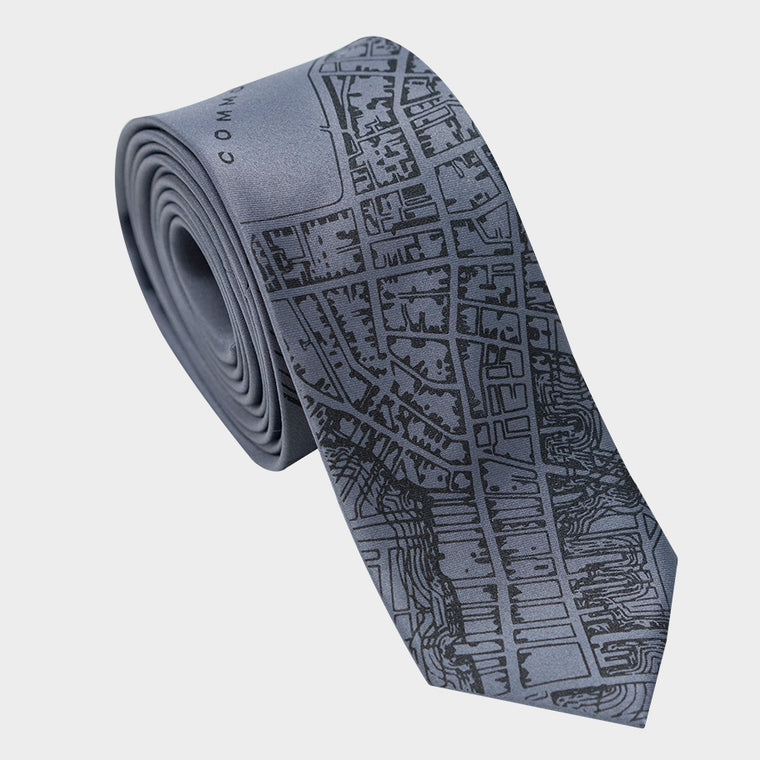 City Map Necktie - Boston