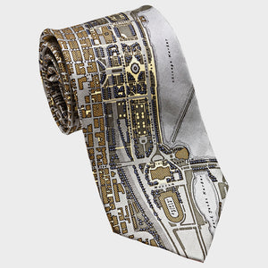 City Necktie London Gray Gold