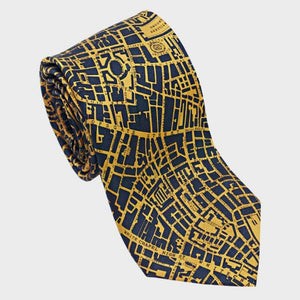 City Necktie London Navy Gold