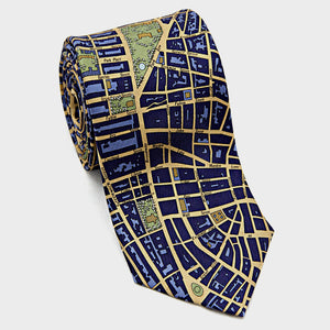 City Necktie New York City Blue Gold