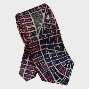City Necktie New York City Red Blue