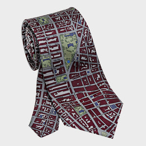 City Necktie New York City Red