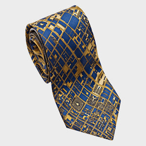 City Necktie Philadelphia Navy Gold