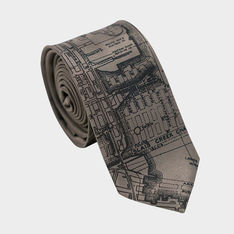San Francisco City Map Necktie