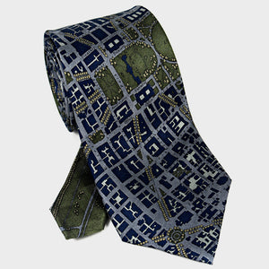 City Necktie Washington D.C. Navy Blue