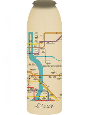Transit Map Bottle New York City Detail