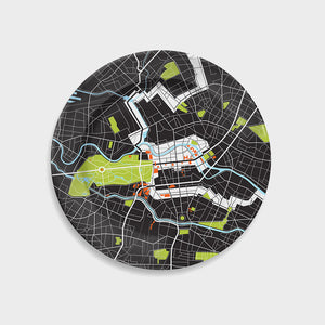 Berlin City Map Plate